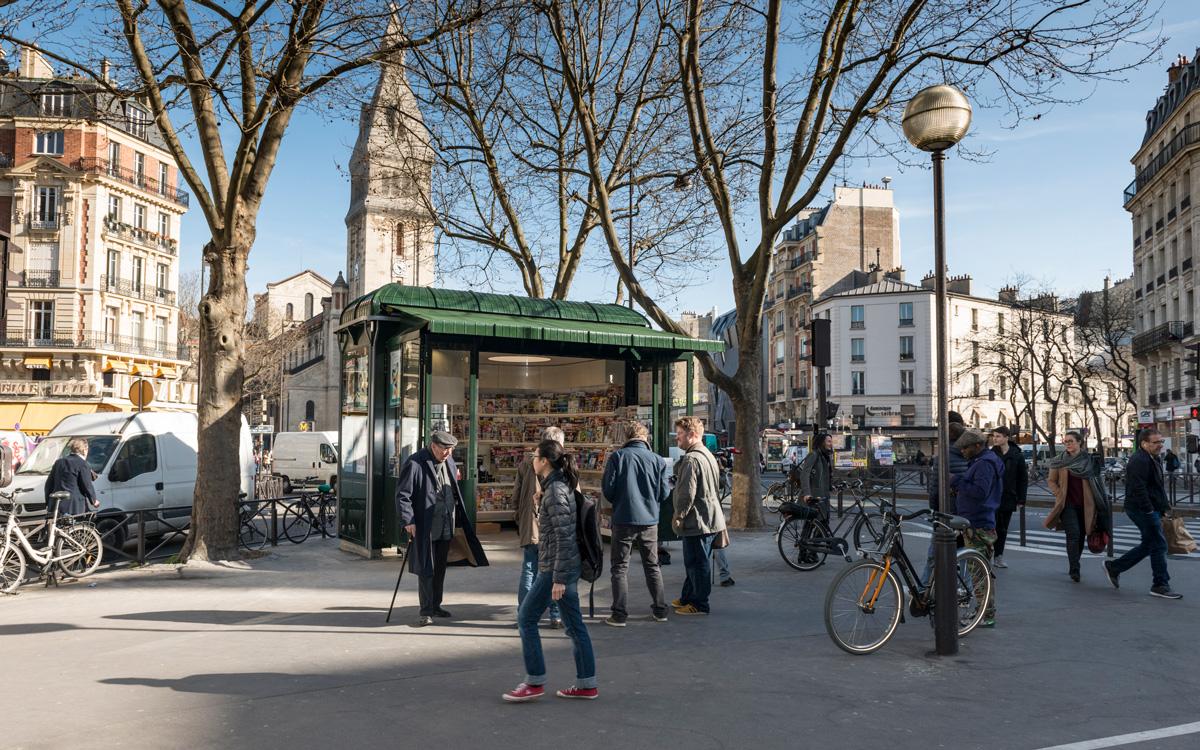 Des nouveaux kiosques de presse à Paris