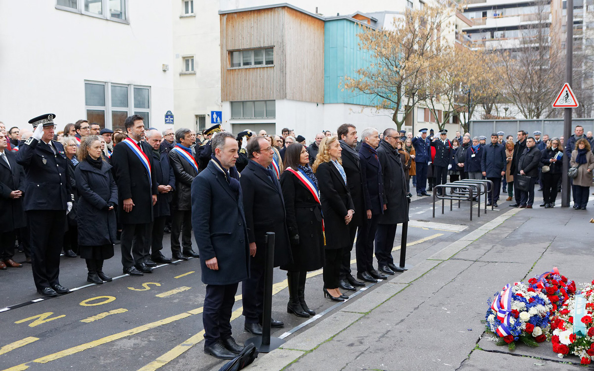 Cérémonies commémoratives en la mémoire des victimes des attentats de janvier 2015