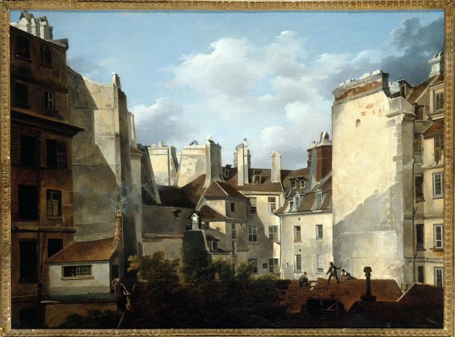 Toits de Paris  Bouhot, Étienne. Peinture