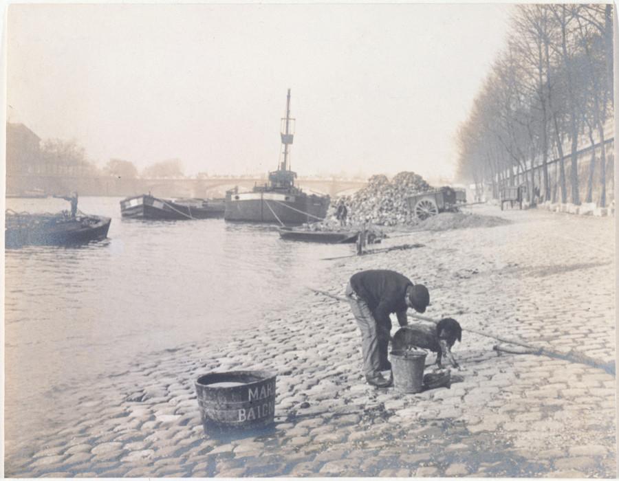 Baigneurs de chiens  sur les quais de Seine
