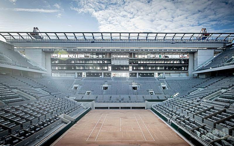 Nouveau toit rétractable  Central de Roland Garros