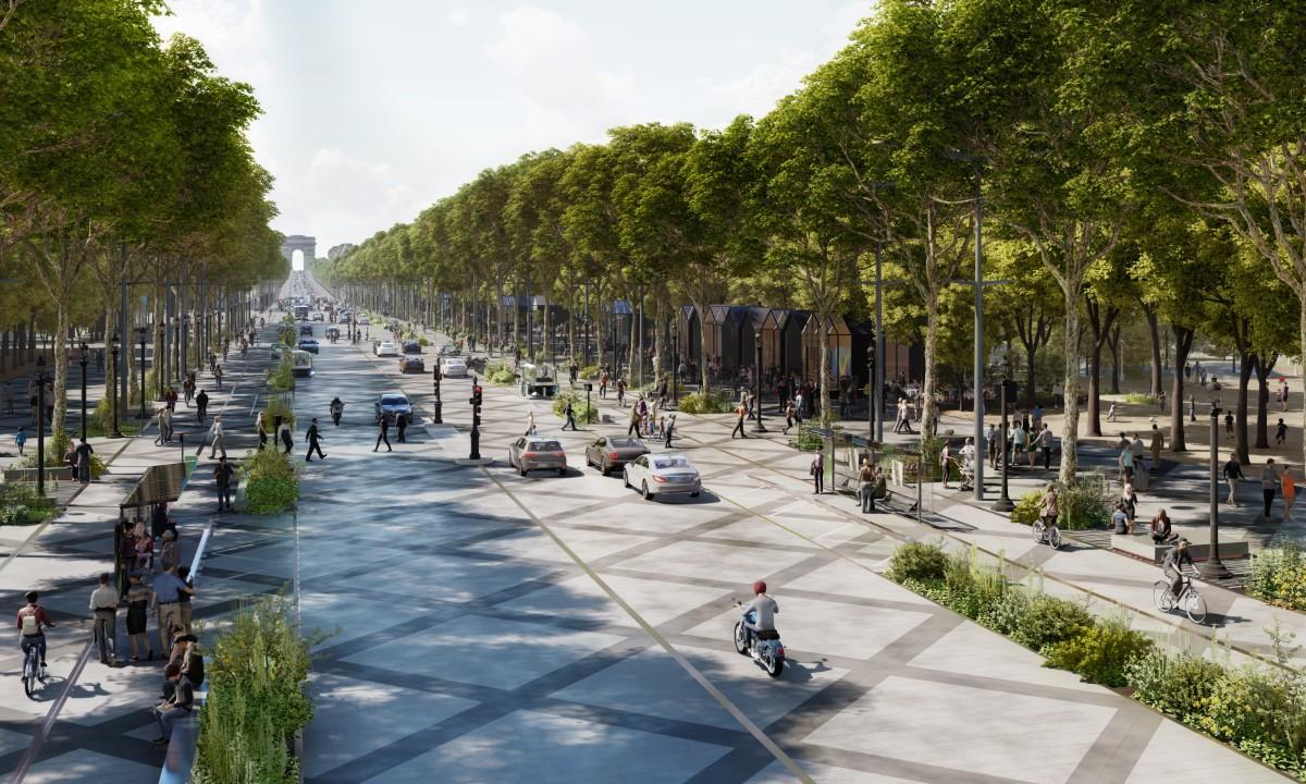 Les Champs Elysées imaginés par PCA Stream