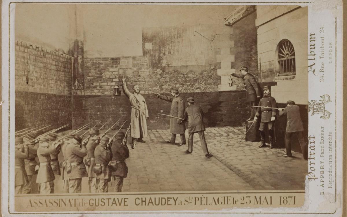 Exécution de Gustave Chaudet, mai 1871