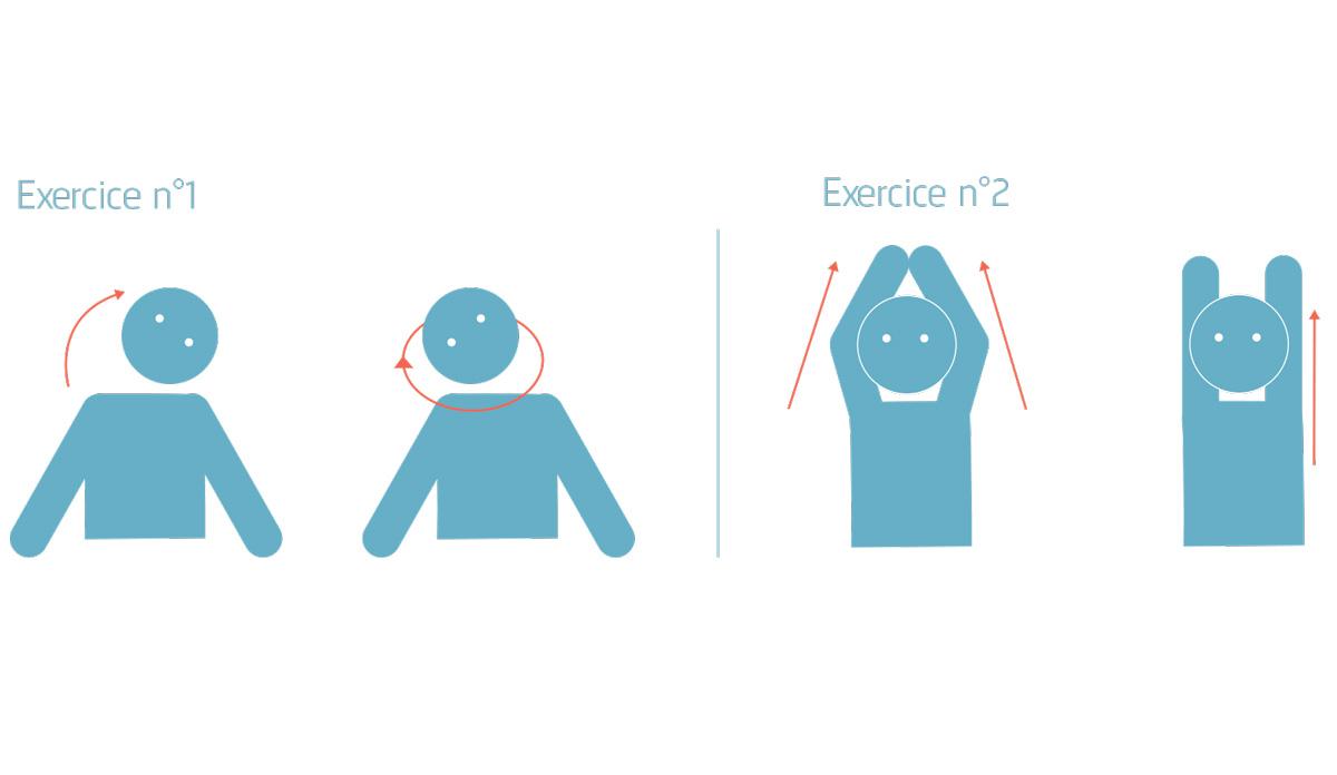 Télétravail exercices 1 2 3 de décontraction