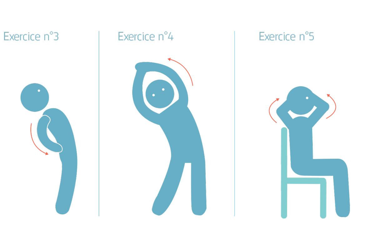 Télétravail exercices 3 4 5 de décontraction
