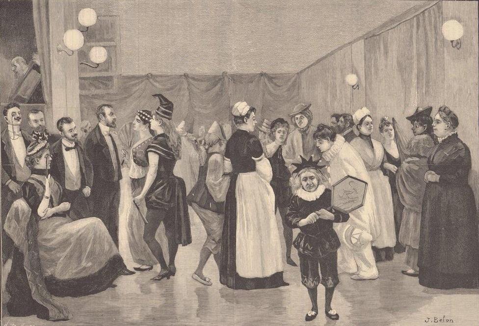 Le bal des folles à l'hôpital de la Salpêtrière