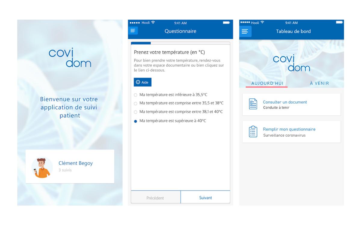 Solution de télésuivi à domicile pour les patients porteurs ou suspectés Covid-19