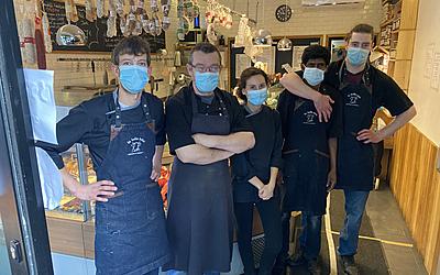 Sébastien Martin et son équipe de la boucherie La Belle Bête