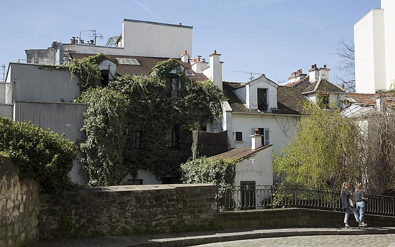 Végétalisation dans le quartier de Montmartre