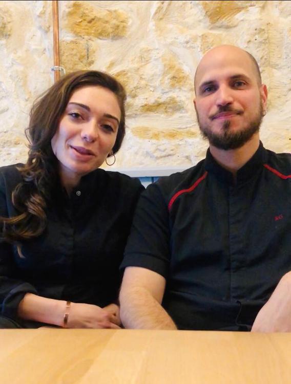 Romain Gervasoni et Julia Patti Restaurateurs Esttia pendant Covid 19