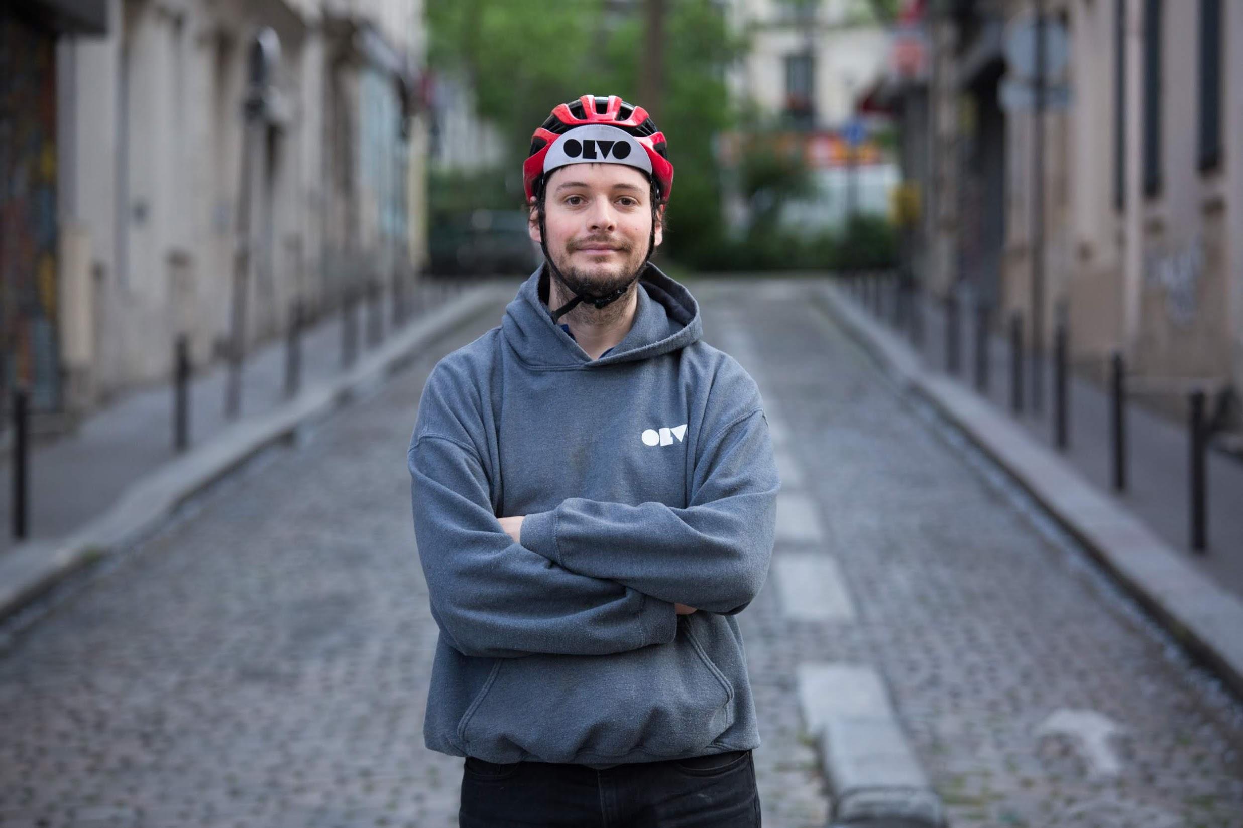 Martin Malzieu ,livreur et directeur d'exploitation pour la société Olvo Distribution ,