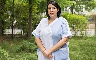Cathia Christophe, agent de la Ville de Paris volontaire en EHPAD