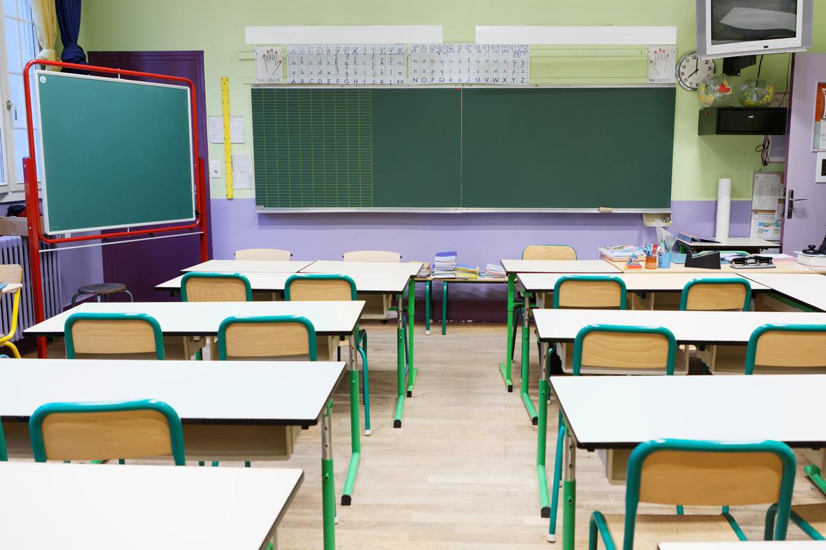 Une classe de l' école Elémentaire