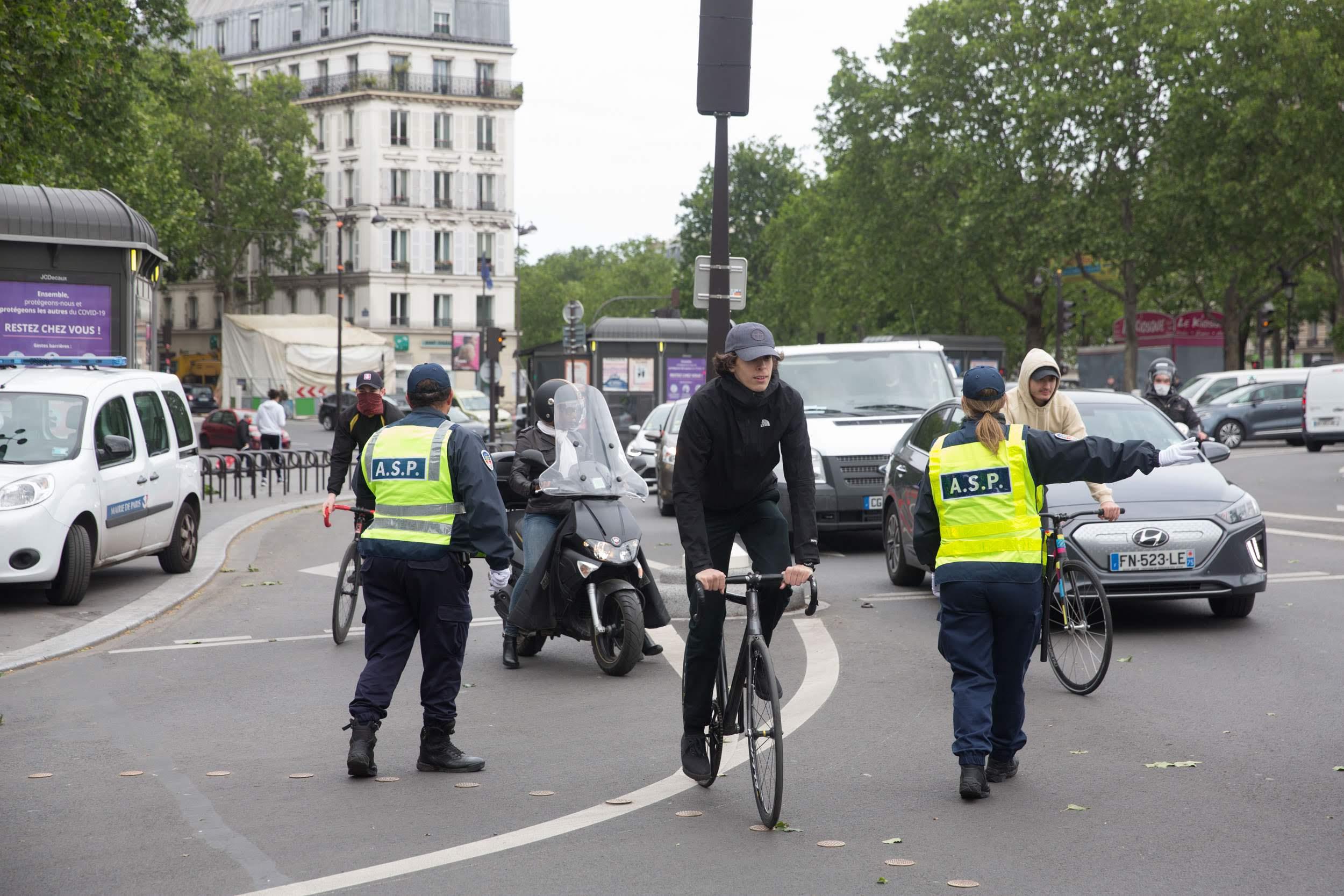 Fermeture de la Rue de Rivoli, filtrage place de la Bastille
