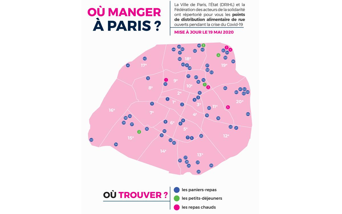 Retrouvez les différents lieux de distribution alimentaire à Paris durant la crise sanitaire.