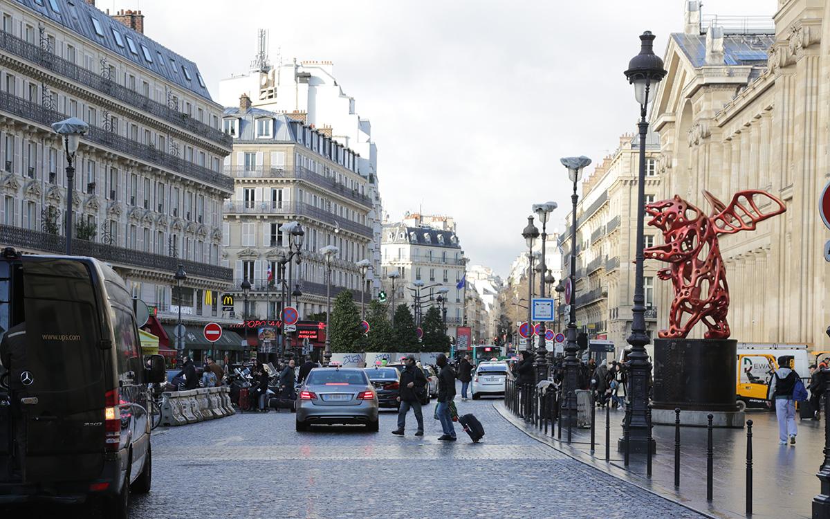 Espaces publics autour de la Gare du Nord