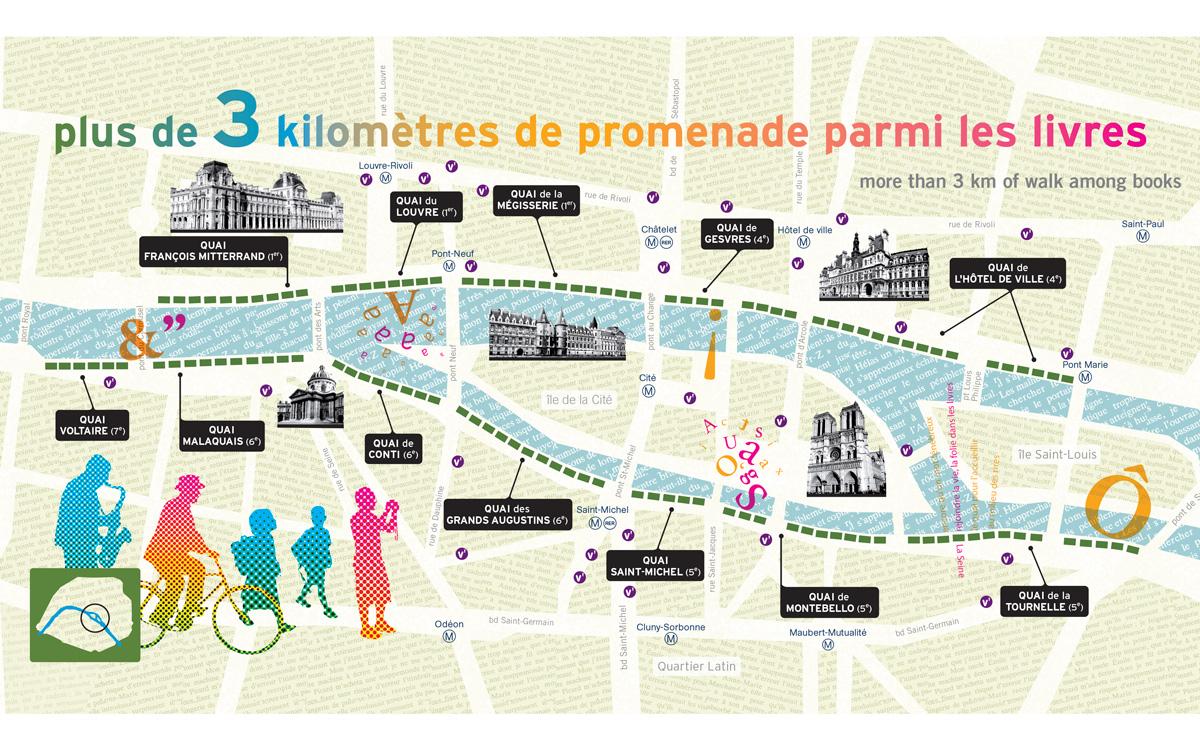 Carte des bouquinistes à Paris