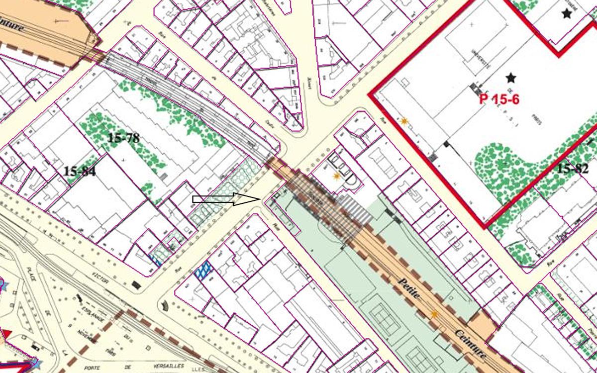 Plan : 399 bis rue de Vaugirard