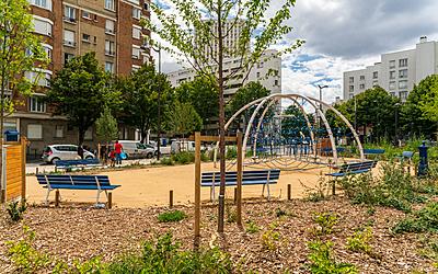 Aire de jeux du jardin Serpollet Boulevard Davout 20e