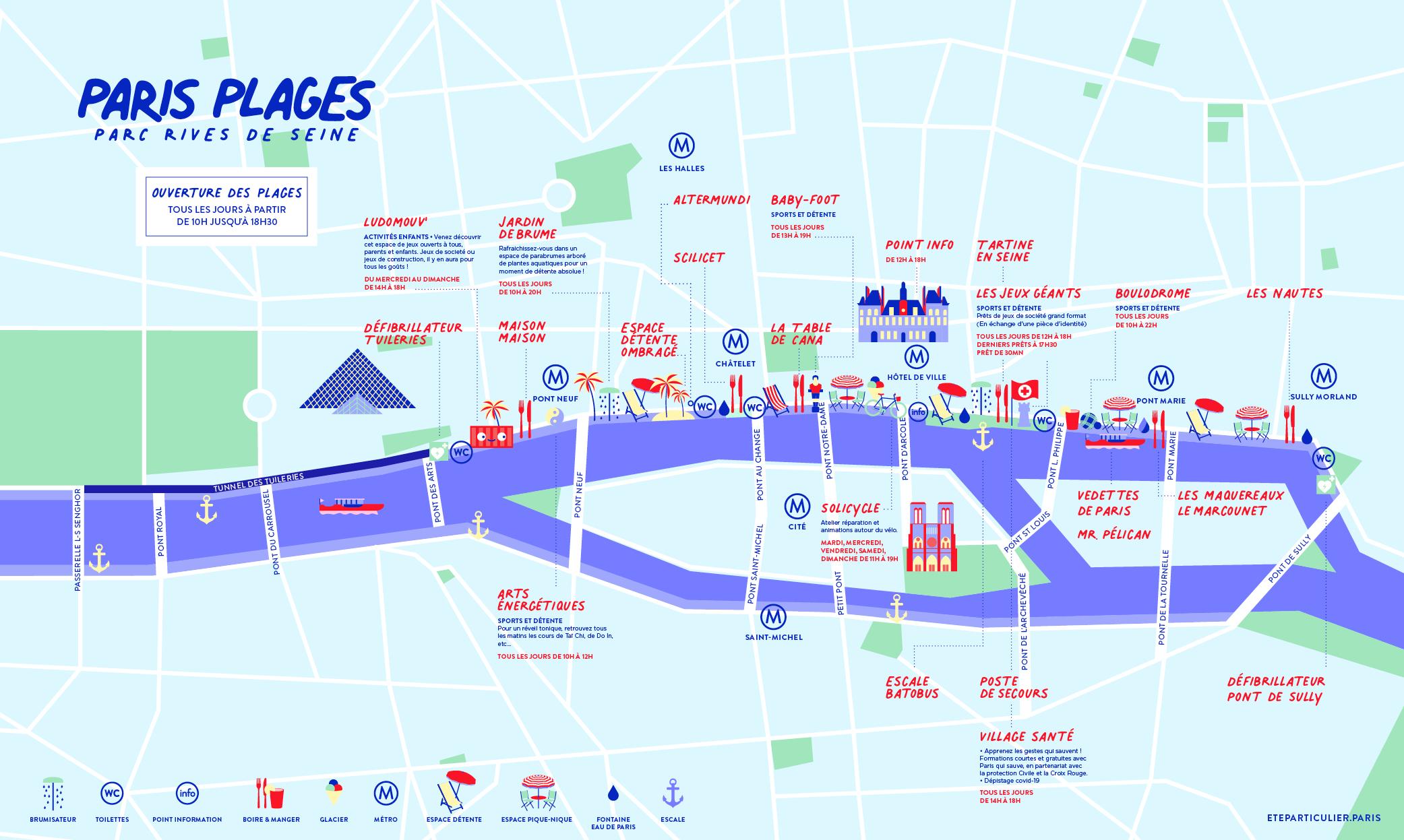 Paris Plages rives de Seine