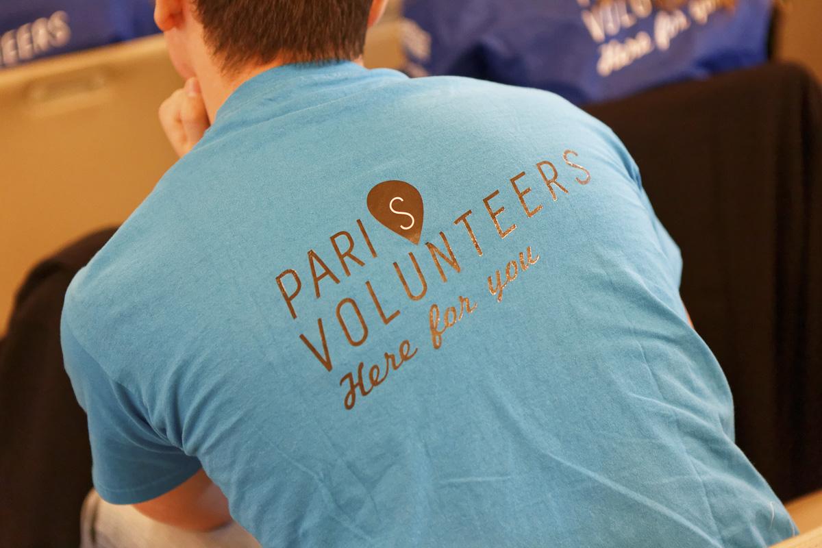 Cérémonie en l'honneur des volontaires parisiens du service civique