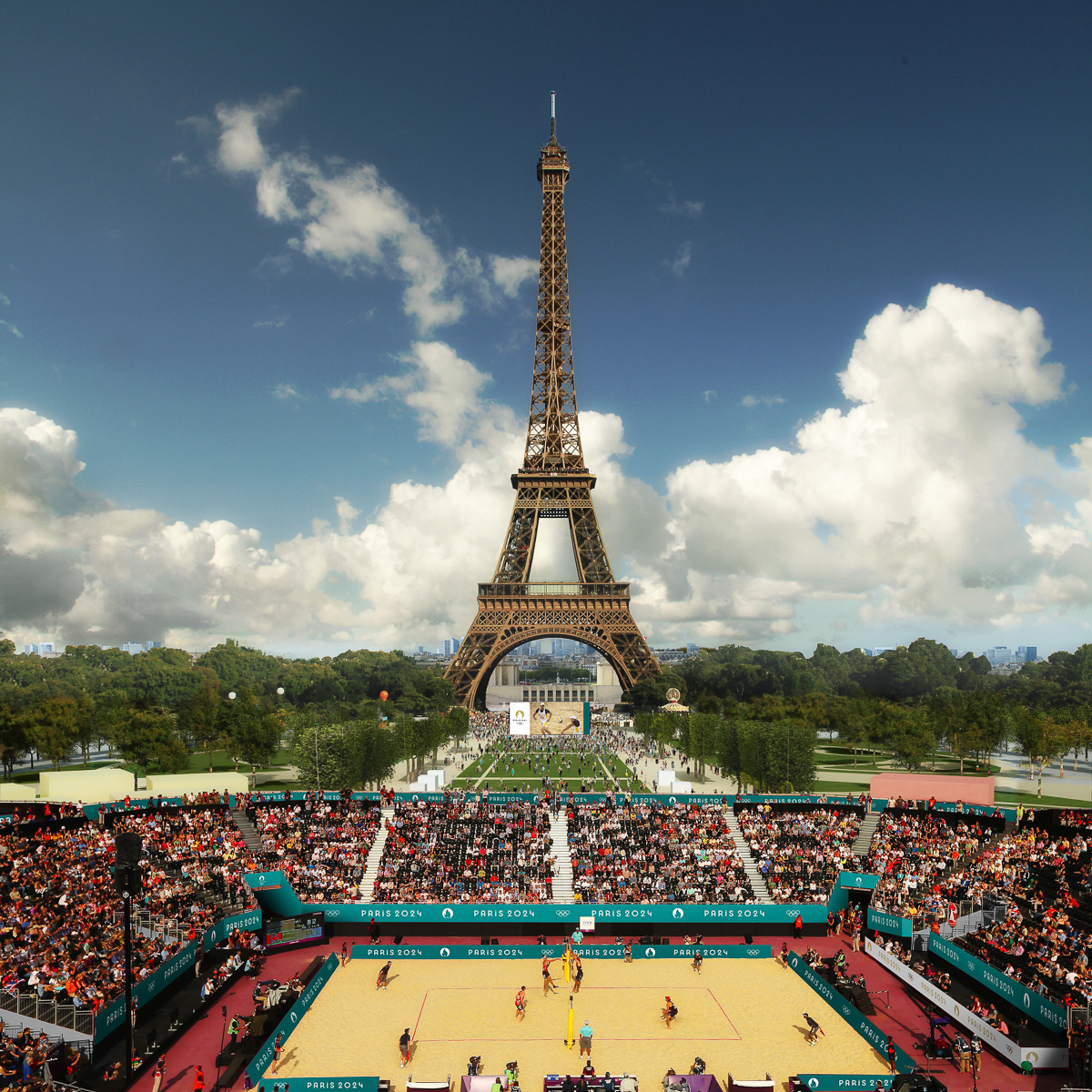Paris2024 Stade Tour Eiffel