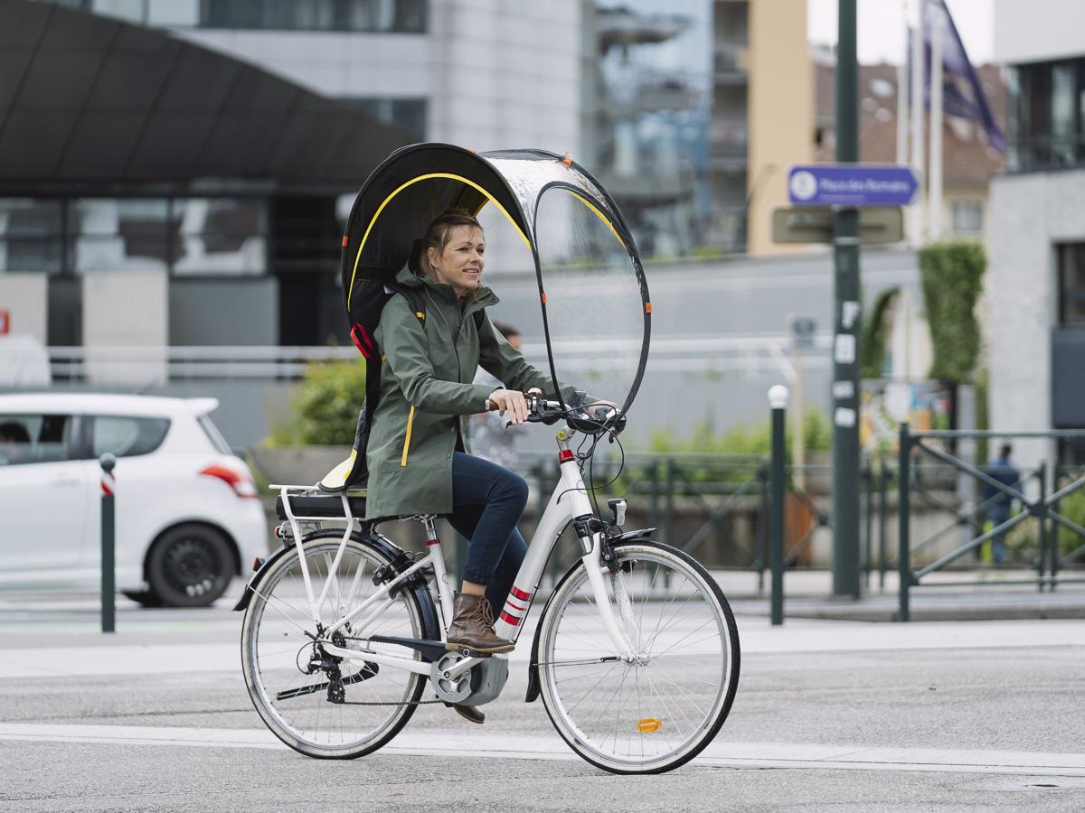 Bulle de protection pour vélo