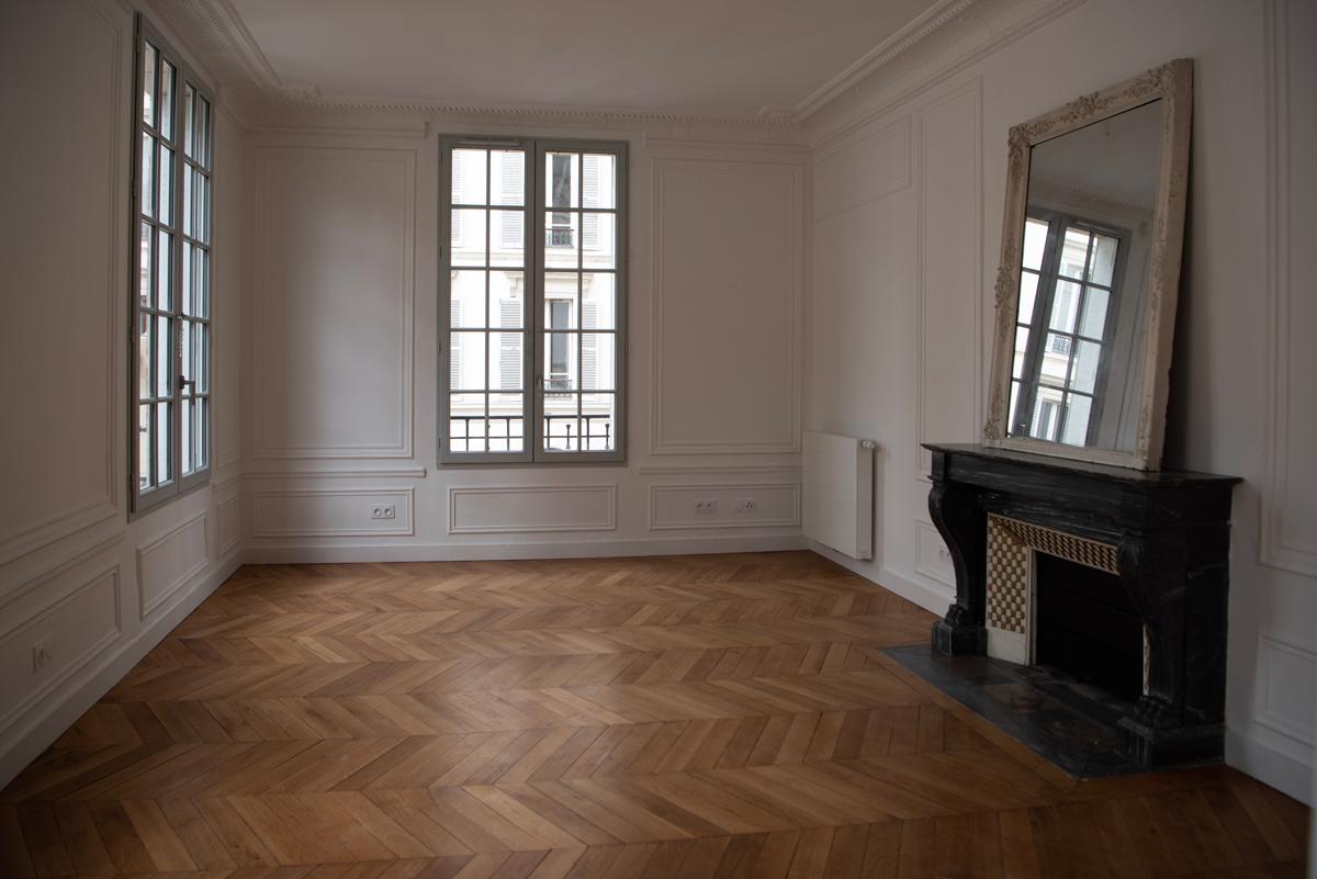 Intérieur d'un logement social.