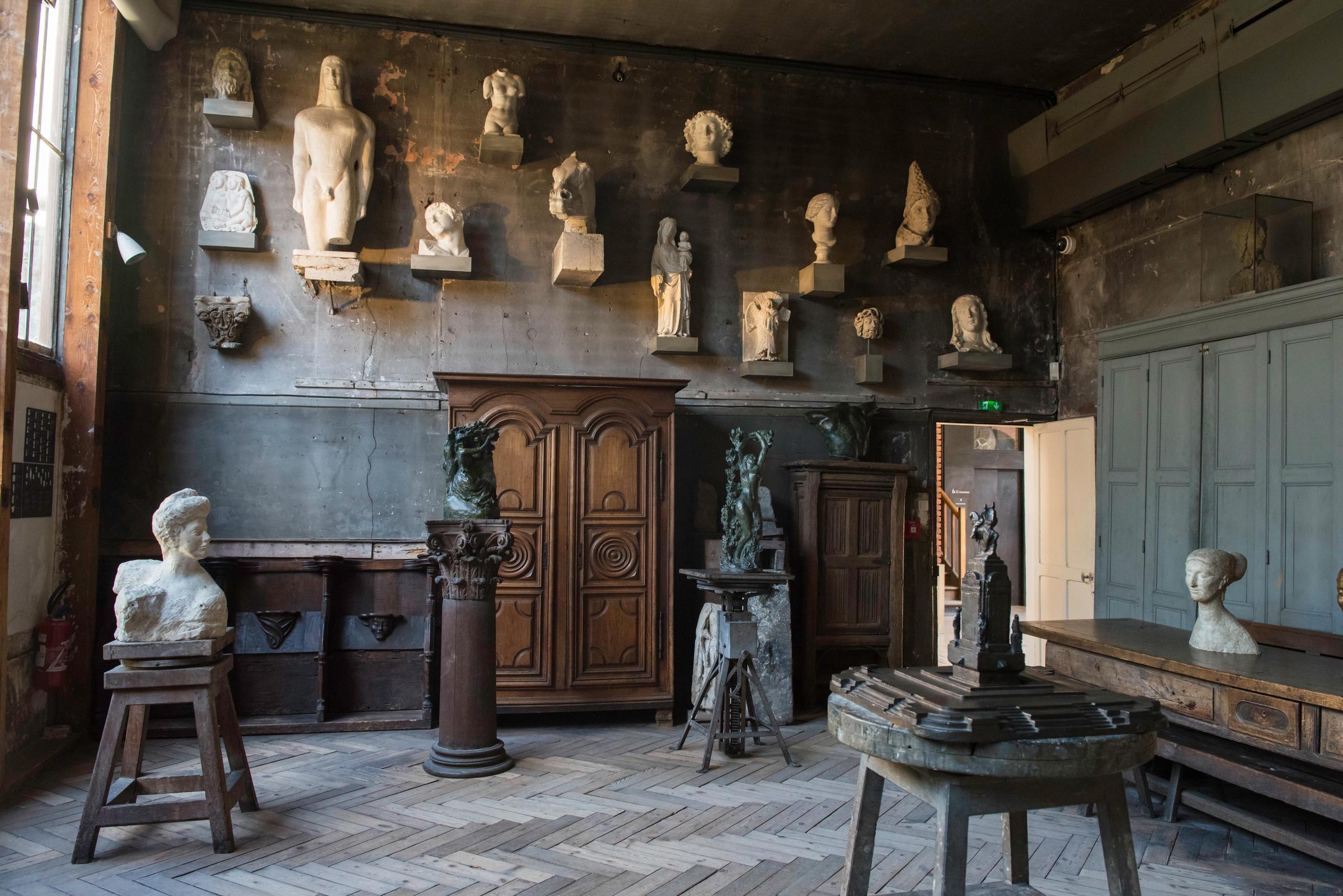 Dans l'intimité de l'atelier d'Antoine Bourdelle, sculpteur du XXe siècle
