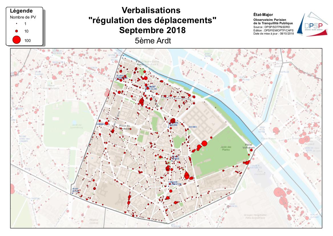 Cartographie de la régulation des déplacements