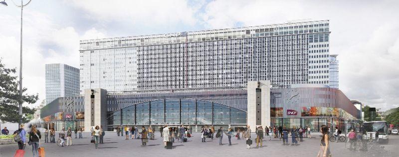Façade de la gare Montparnasse rénovée