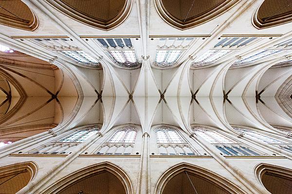 Basilique Sainte-Clotilde de Paris (VIIᵉarrondissement), voûte en pierre de taille, XIXᵉ siècle.