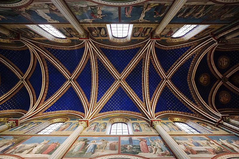 Abbaye de Saint-Germain-des-Prés(VIᵉarrondissement), voûte en pierre de taille, XIᵉ siècle.