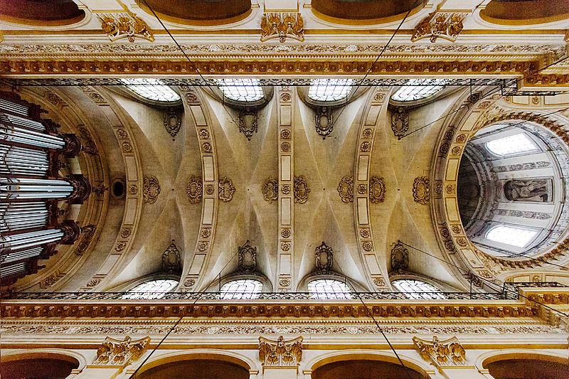 ÉgliseSaint-Paul-Saint-Louis (IVᵉarrondissement), voûte en pierre de taille, XVIIᵉ siècle.