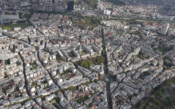 Paris 20e vue du ciel