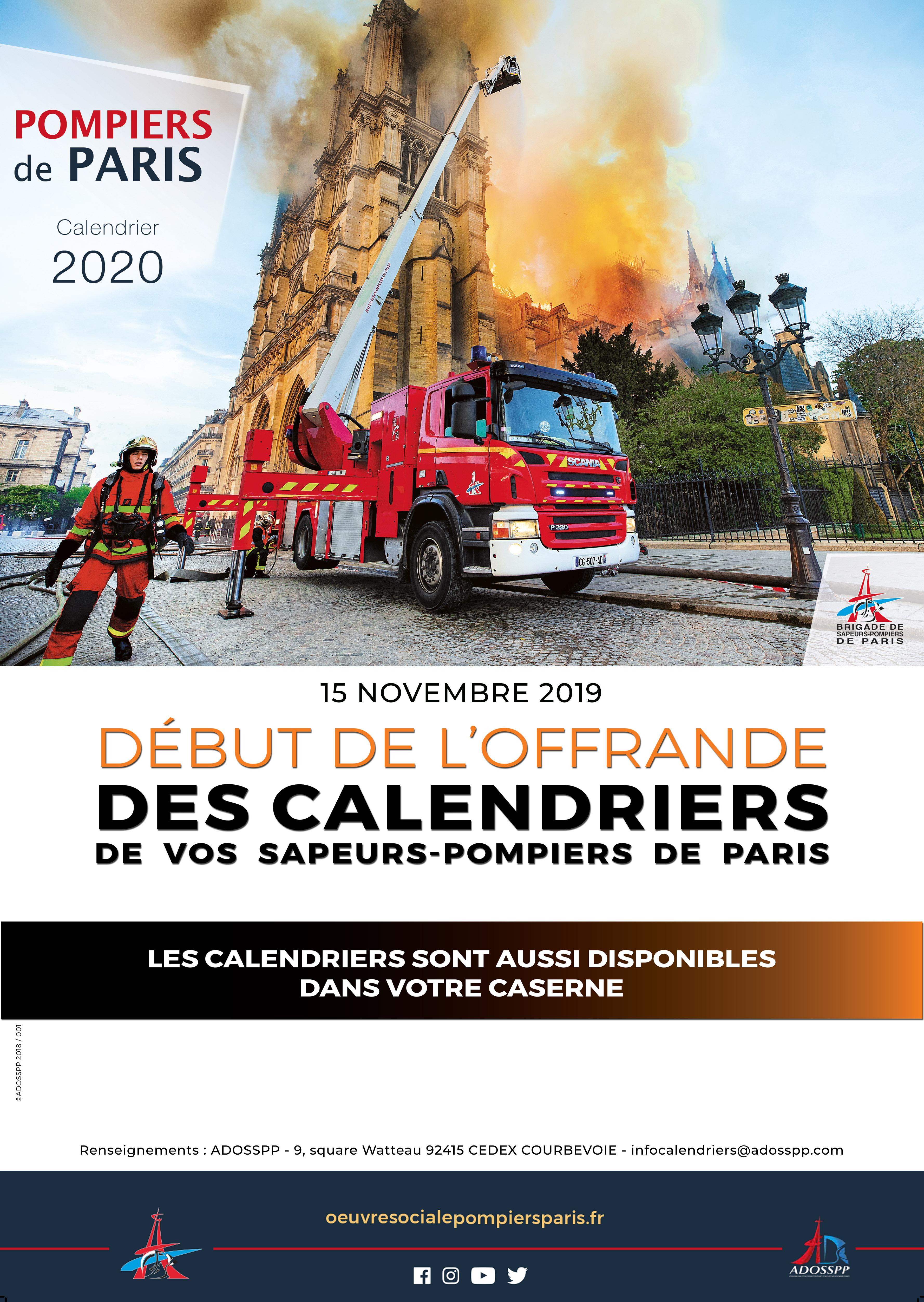 Calendrier Pompier De Paris 2021 Demandez votre calendrier 2020 des Sapeurs Pompiers de   Mairie du