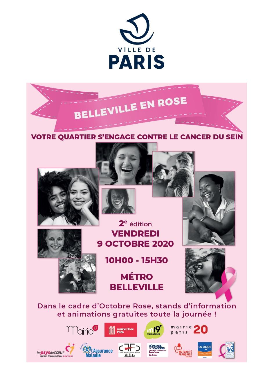 Affiche Belleville en rose 2020