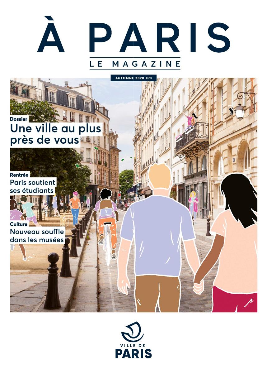 Couverture du magazine d'octobre A Paris