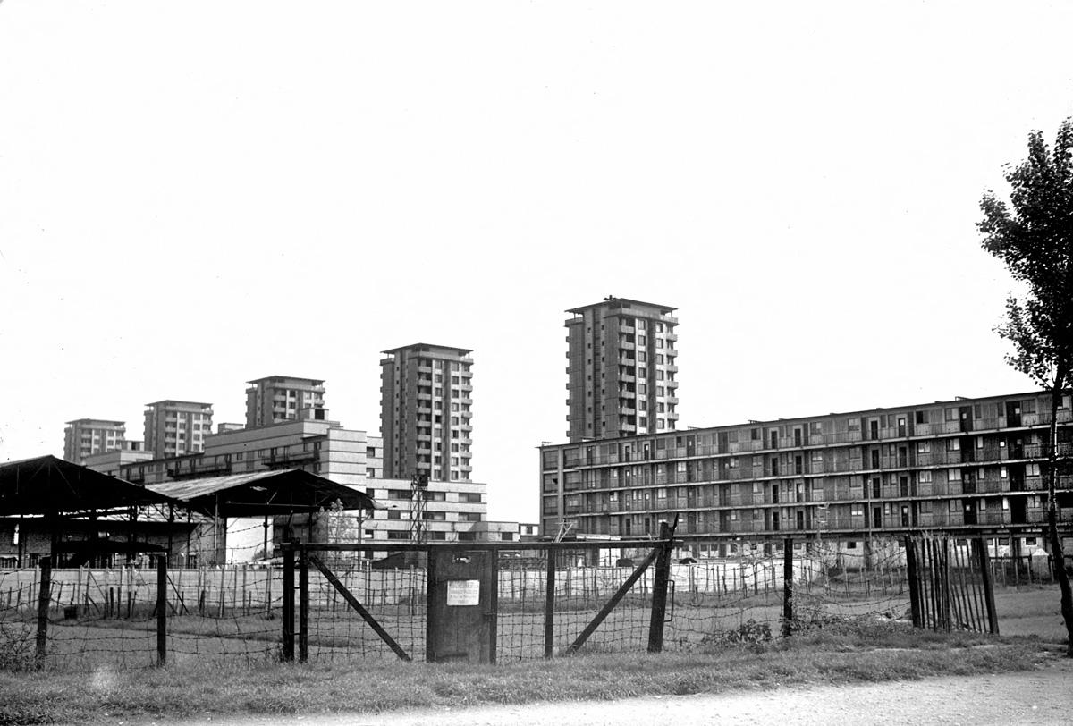 La cité de la Muette (E. Beaudouin, A. Lods et Bodiansky, architectes, 1934) utilisée comme camp d'internement  de 1941 à 1944. Drancy (Seine-Saint-Denis).