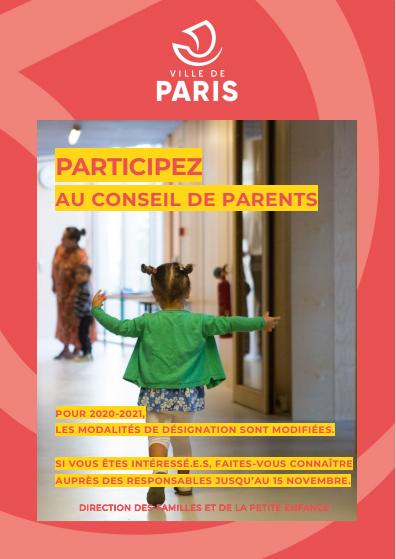 Affiche participez au conseil parents (oct.2020)