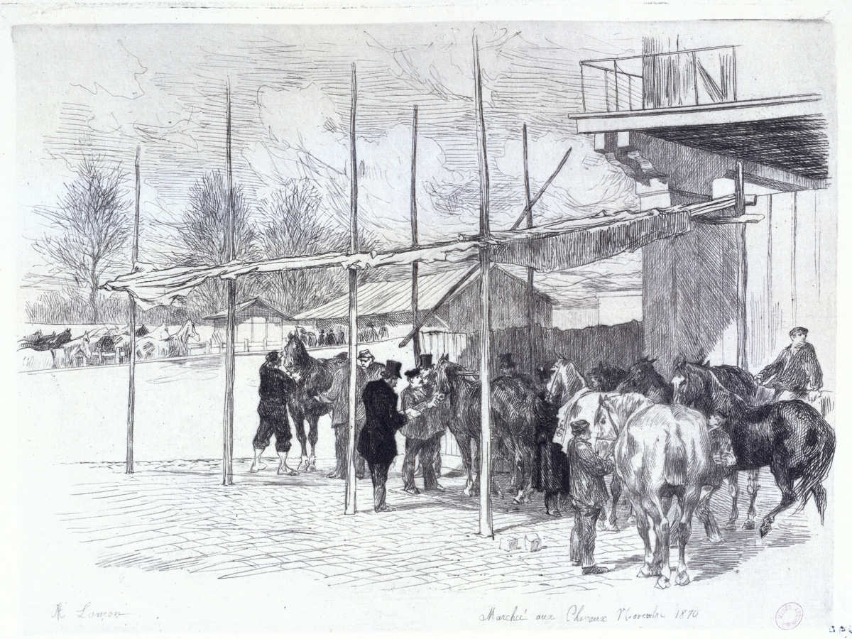 Marché aux chevaux novembre 1870