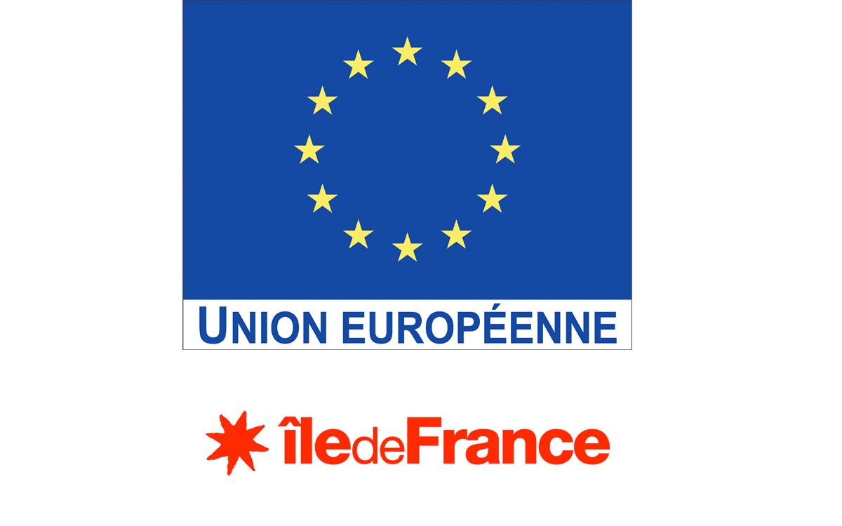 Logos de l'Union européenne et de la région Ile de France
