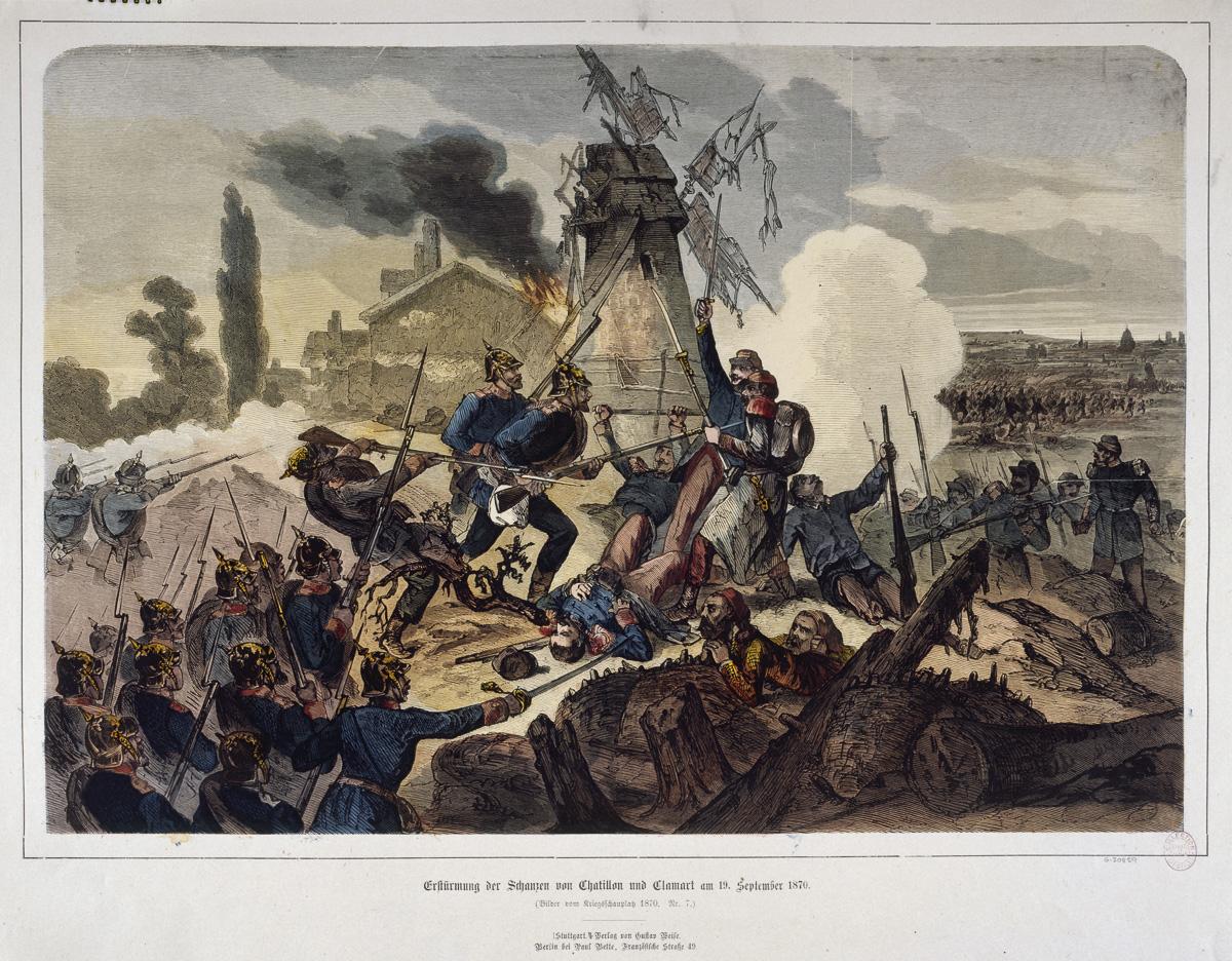 La bataille de Chatillon et de Clamart le 19 septembre 1870