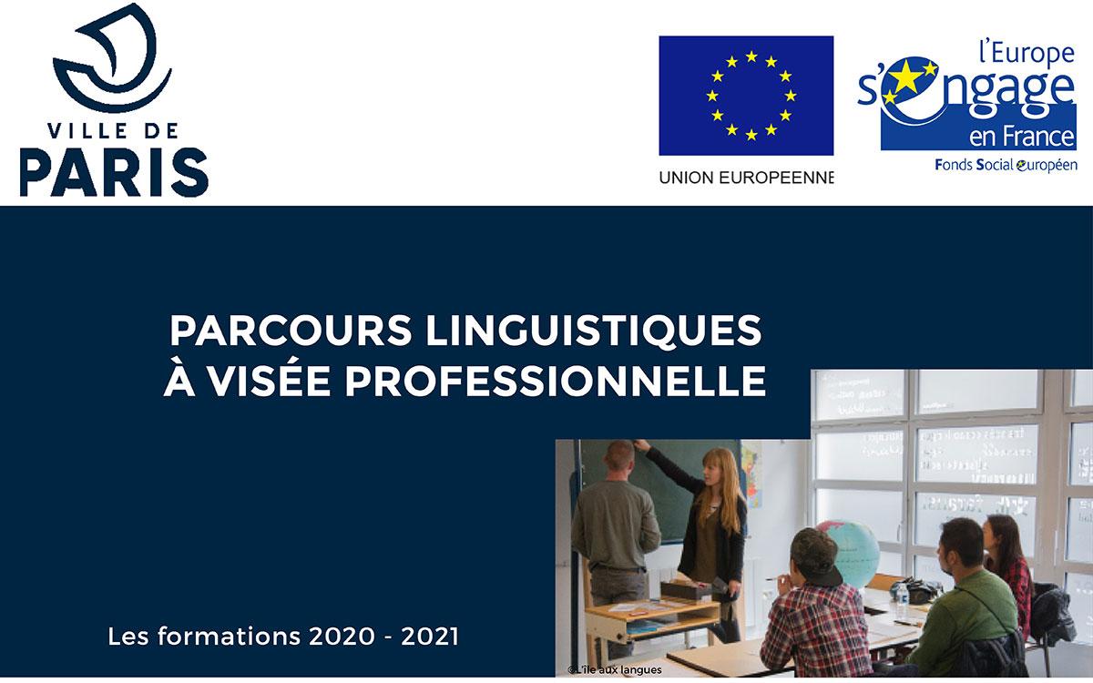 Catalogue formations parcours formation linguistiques à visée professionnelle