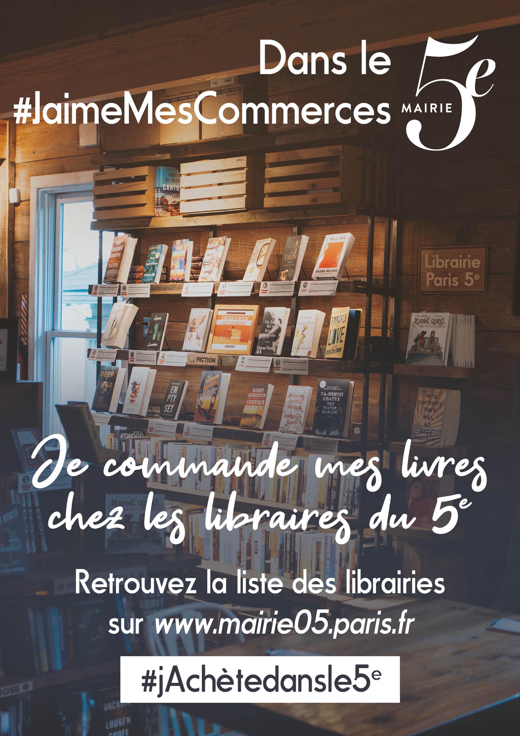 Affiche de soutien aux libraires du 5e