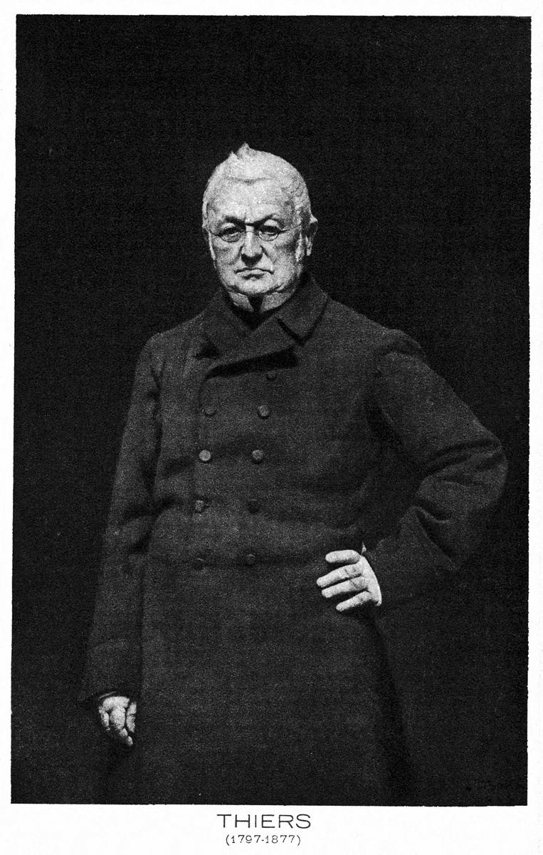 Adolphe Thiers (1797-1877), homme d'Etat et historien français.