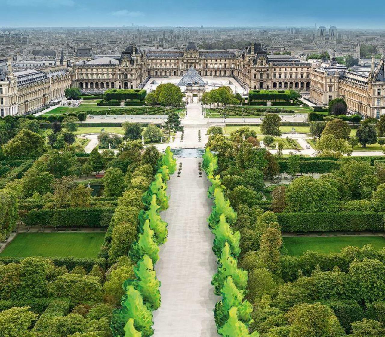 Jardin des tuileries avec ormes