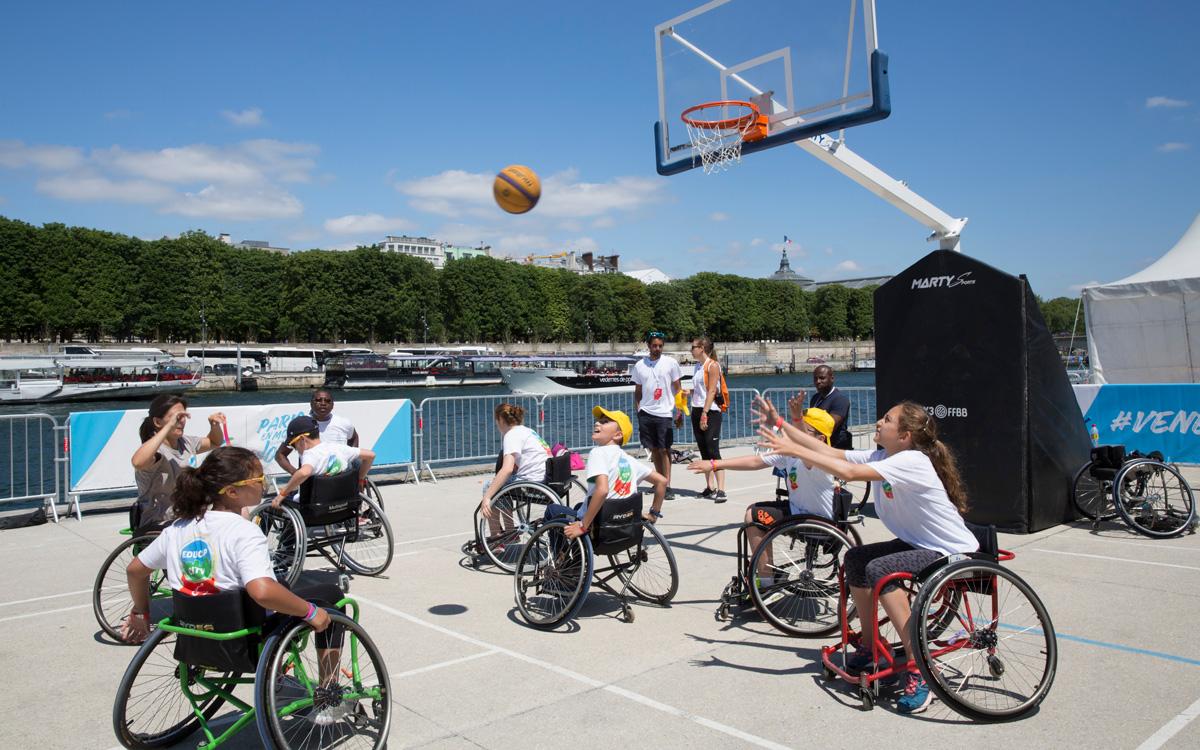 Journées olympiques sur les berges de Seine