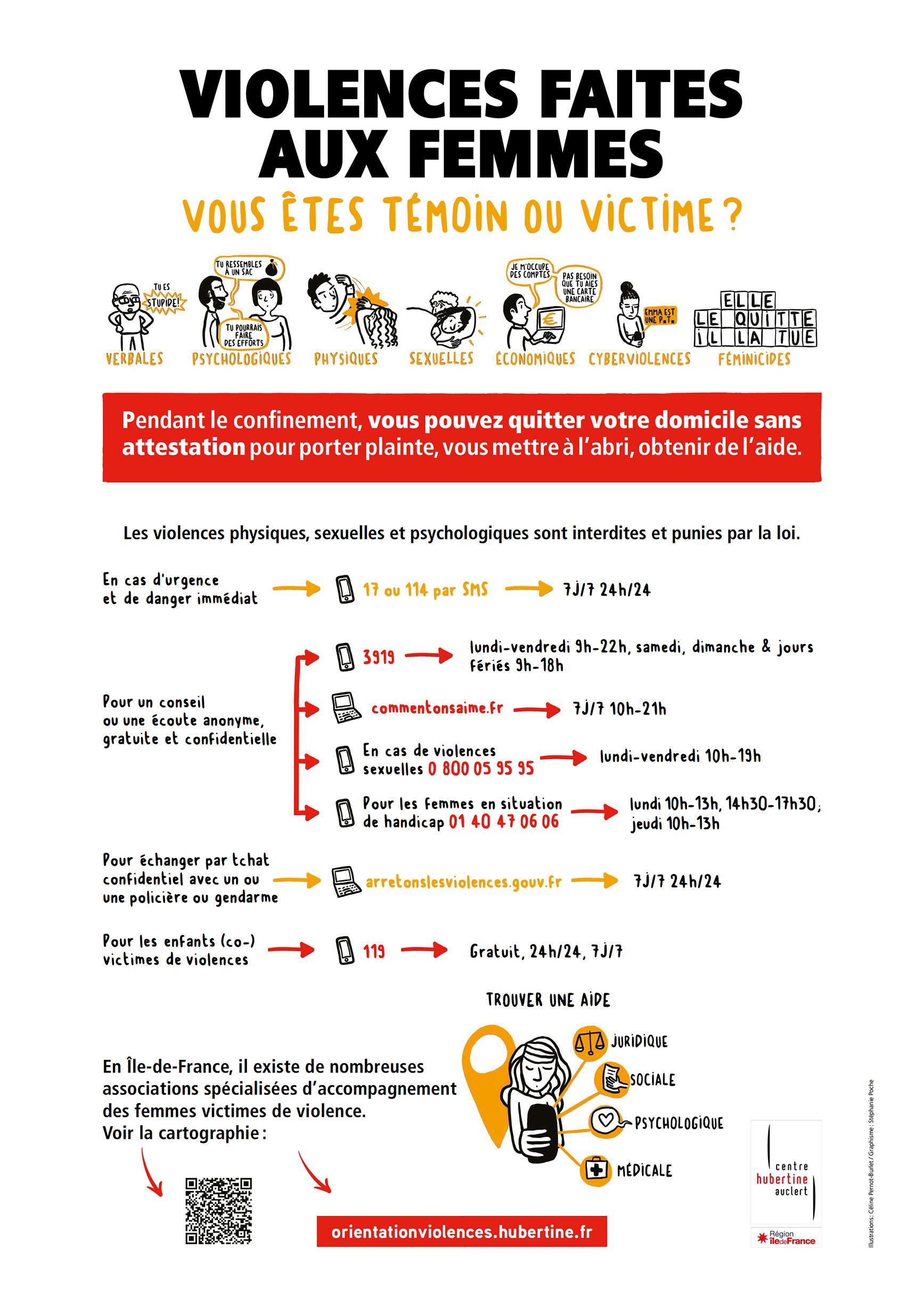 Affiche contre les violences