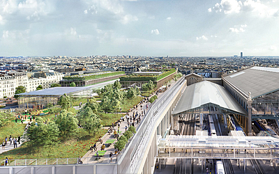 La future terrasse de la gare du nord.